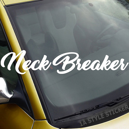 Nice Breaker Frontscheibenaufkleber Tuningsticker Autoaufkleber Uni Farben Sticker Tuningaufkleber Tuningszene