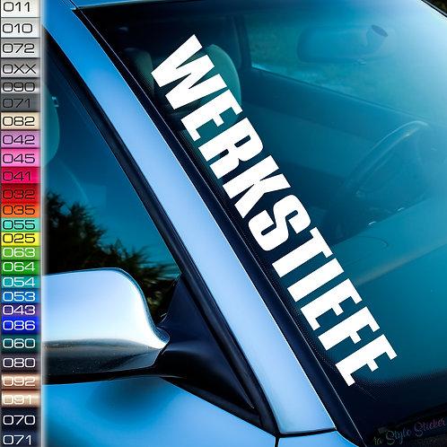 Werkstiefe Frontscheibenaufkleber Tuningsticker Autoaufkleber Uni Farben Sticker Tuningaufkleber Tuningszene