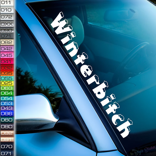 Winterbitch Schnee Frontscheibenaufkleber Tuningsticker Autoaufkleber Uni Farben Sticker Tuningaufkleber Tuningszene