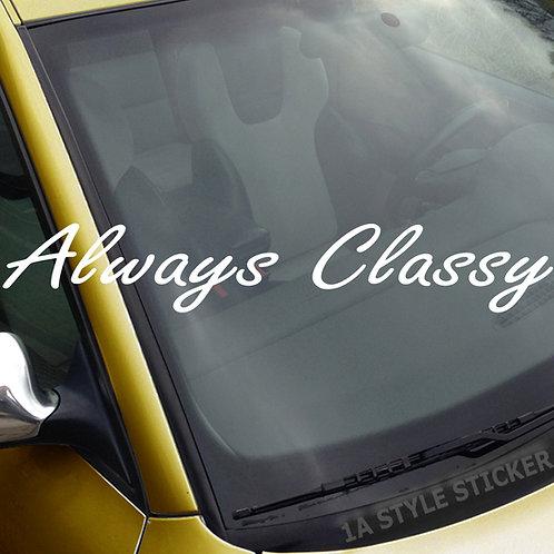 Always Classic Frontscheibenaufkleber Tuningsticker Autoaufkleber Uni Farben Sticker Tuningaufkleber Tuningszene