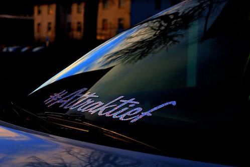 #Attraktief Glitzerflakes Tuningsticker Frontscheibenaufkleber Autoaufkleber Effektfolie Custom Sticker Glitter Hologramm