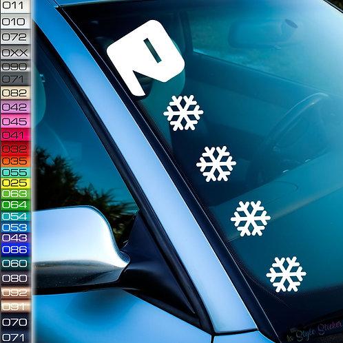Pacman Schnee Frontscheibenaufkleber Tuningsticker Autoaufkleber Uni Farben Sticker Tuningaufkleber Tuningszene