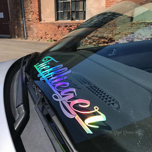 Tiefflieger Oilslick Tuningsticker Autoaufkleber Hologramm Frontscheibenaufkleber Holographic Effekt