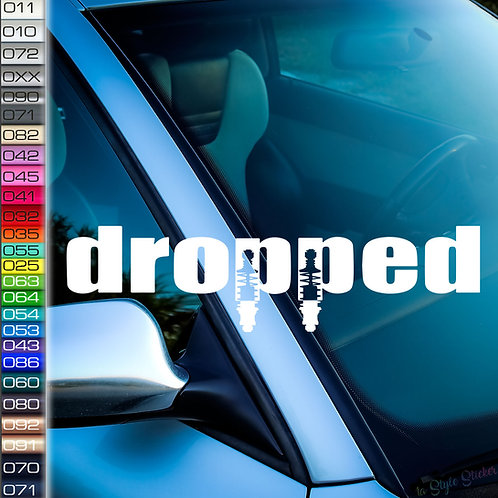 Dropped Frontscheibenaufkleber Tuningsticker Autoaufkleber Uni Farben Sticker Tuningaufkleber Tuningszene
