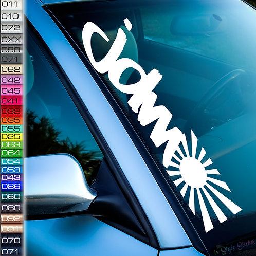 JDM Flagge Frontscheibenaufkleber Tuningsticker Autoaufkleber Uni Farben Sticker Tuningaufkleber Tuningszene