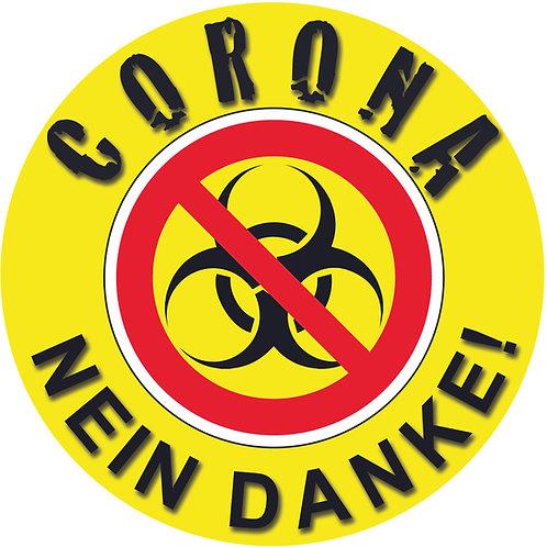 CORONA VIRUS Aufkleber NEIN DANKE Corona VIRUS Sticker Epidemie Deutschland WELT