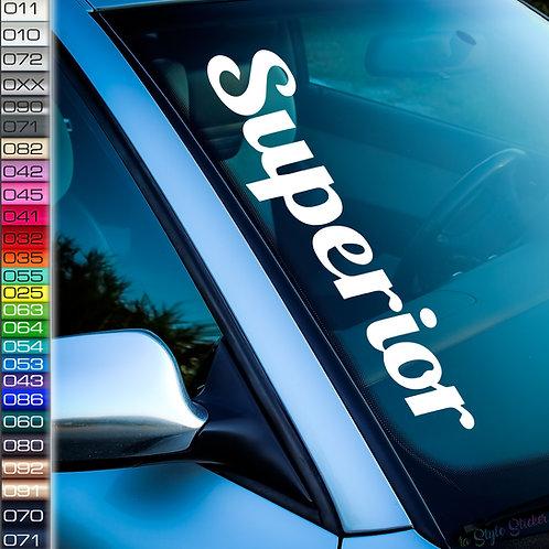Superior Frontscheibenaufkleber Tuningsticker Autoaufkleber Uni Farben Sticker Tuningaufkleber Tuningszene