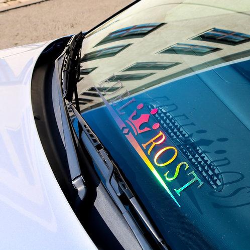 Edelrost Tuningsticker Autoaufkleber Hologramm Frontscheibenaufkleber Holographic Effekt