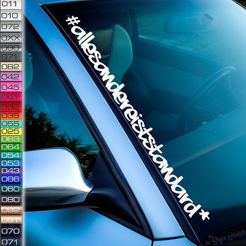 #allesandereiststandart Frontscheibenaufkleber Tuningsticker Uni Farben Sticker Tuningaufkleber  Tuningszenenaufkleber