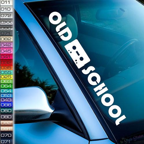 Old School Kassete Frontscheibenaufkleber Tuningsticker Autoaufkleber Uni Farben Sticker Tuningaufkleber Tuningszene
