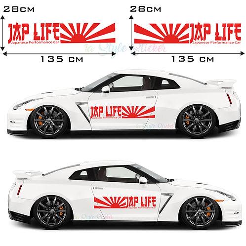 Auto Seitenaufkleber JDM JAP LIFE Culture Gesamtansicht
