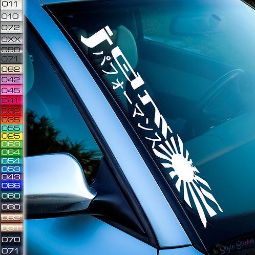JDM Flagge Japan Frontscheibenaufkleber Tuningsticker Autoaufkleber Uni Farben Sticker Tuningaufkleber Tuningszene