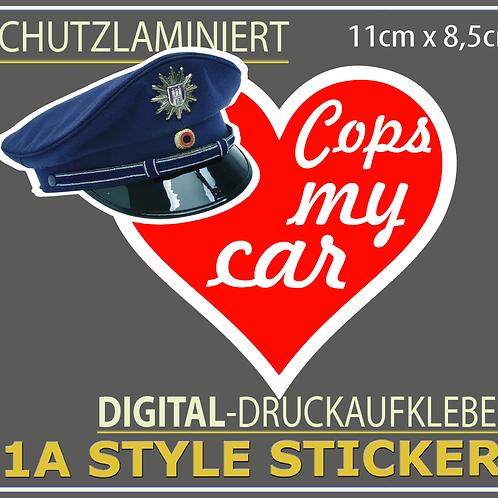 Cops Love me Polizeikontrollen Aufkleber