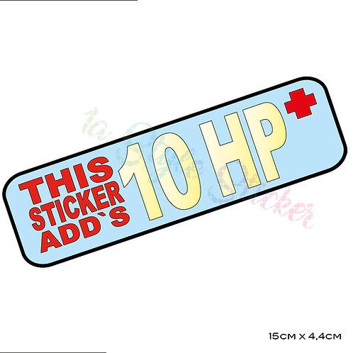 HP + Auto Aufkleber 🏁 mehr Leistung dank Sticker
