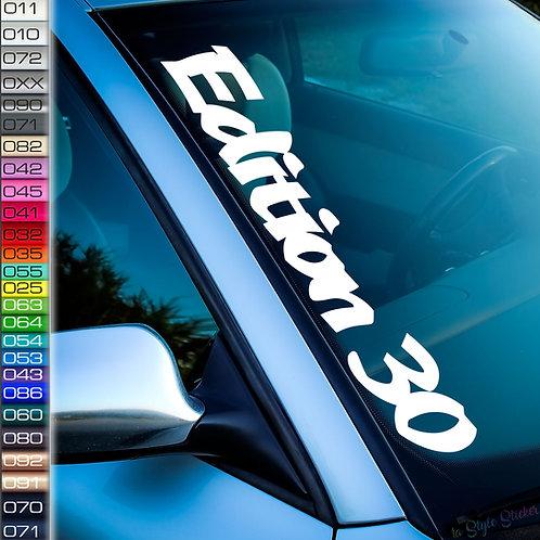 Edition 30 Frontscheibenaufkleber Tuningsticker Autoaufkleber Uni Farben Sticker Tuningaufkleber Tuningszene