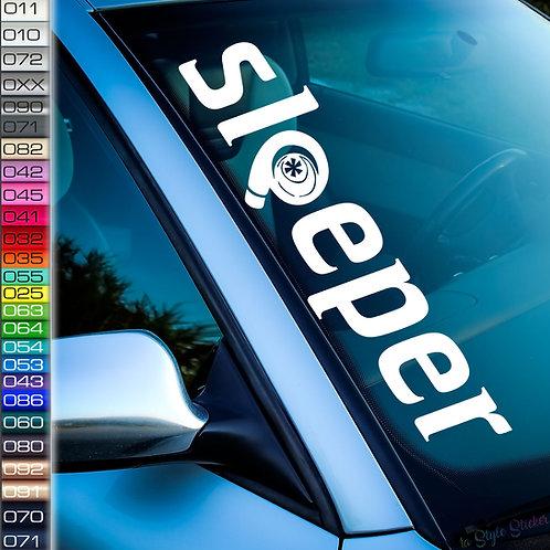 Sleeper Turbo Frontscheibenaufkleber Tuningsticker Autoaufkleber Uni Farben Sticker Tuningaufkleber Tuningszene