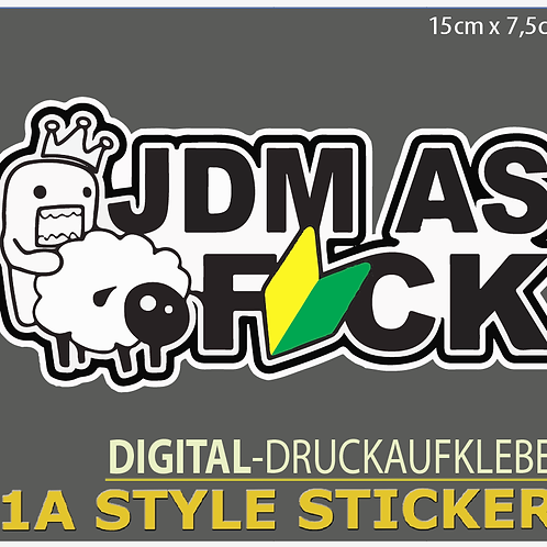 JDM AS FUCK Sticker Domokun Pedobär Wakaba Decal Aufkleber JDMstyle