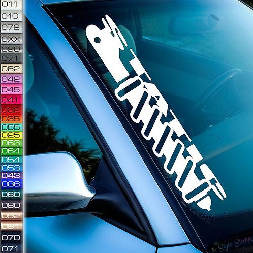 Static Stoßdämpfer Frontscheibenaufkleber Tuningsticker Autoaufkleber Uni Farben Sticker Tuningaufkleber Tuningszene