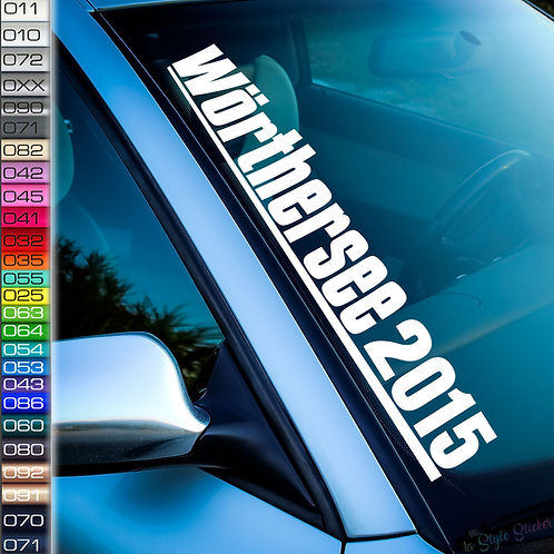 Wörthersee 2015 Frontscheibenaufkleber Tuningsticker Autoaufkleber Uni Farben Sticker Tuningaufkleber Tuningszene