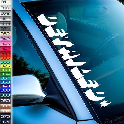 Detailed Kontur Frontscheibenaufkleber Tuningsticker Autoaufkleber Uni Farben Sticker Tuningaufkleber Tuningszene