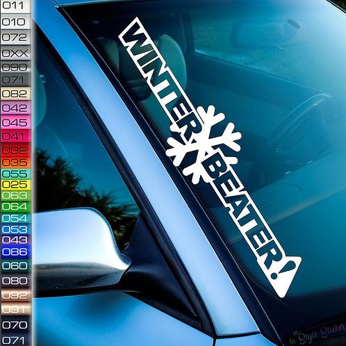 Winter Beater! Frontscheibenaufkleber Tuningsticker Autoaufkleber Uni Farben Sticker Tuningaufkleber Tuningszene