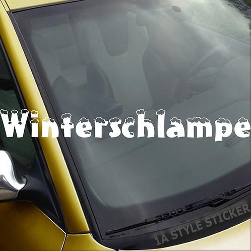 Winterschlampe Frontscheibenaufkleber Tuningsticker Autoaufkleber Uni Farben Sticker Tuningaufkleber Tuningszene