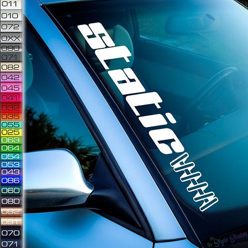 Static Feder Kontur Frontscheibenaufkleber Tuningsticker Autoaufkleber Uni Farben Sticker Tuningaufkleber Tuningszene