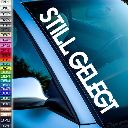 Stillgelegt Frontscheibenaufkleber Tuningsticker Autoaufkleber Uni Farben Sticker Tuningaufkleber Tuningszene