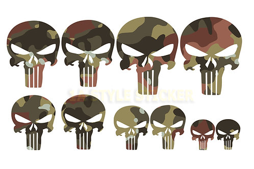10 x The Punisher Sticker Tarnlook Skull Totenschädel Aufkleber