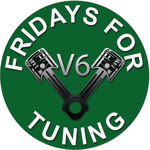 FRIDAYs FOR TUNING Aufkleber V6  Petrolhead - Motorkolben  D188