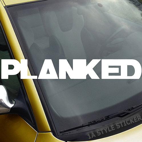 Planked Frontscheibenaufkleber Tuningsticker Autoaufkleber Uni Farben Sticker Tuningaufkleber Tuningszene