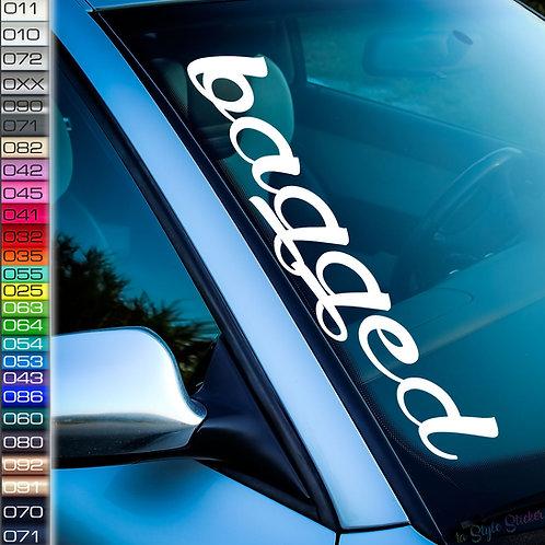 Bagged Frontscheibenaufkleber Tuningsticker Autoaufkleber Uni Farben Sticker Tuningaufkleber Tuningszene