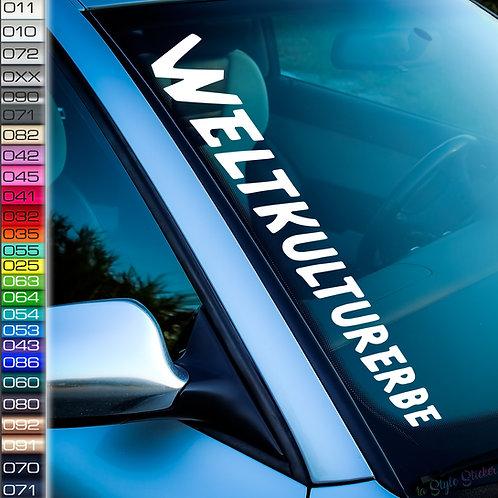 Weltkulturerbe Frontscheibenaufkleber Tuningsticker Autoaufkleber Uni Farben Sticker Tuningaufkleber  Tuningszenenaufkleber