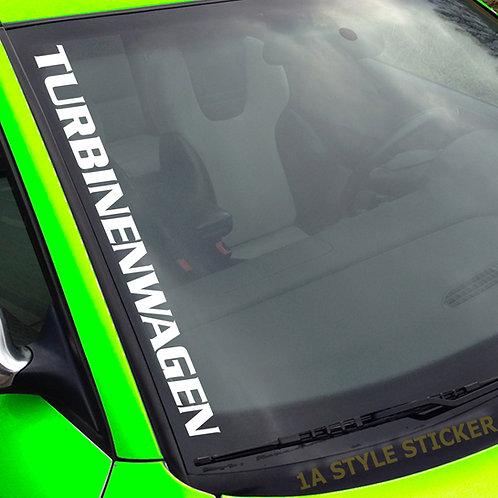 Turbinenwagen Frontscheidenaufkleber