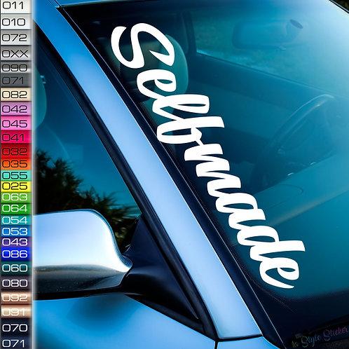 Selfmade Frontscheibenaufkleber Tuningsticker Autoaufkleber Uni Farben Sticker Tuningaufkleber Tuningszene