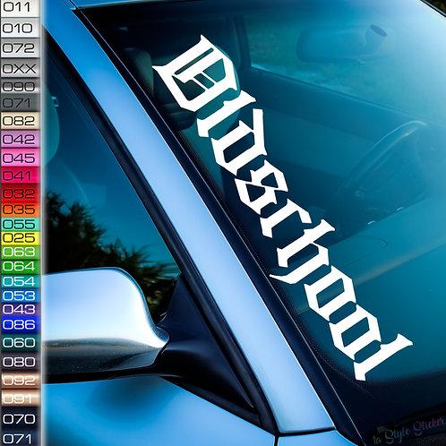 Oldschool Frontscheibenaufkleber Tuningsticker Autoaufkleber Uni Farben Sticker Tuningaufkleber Tuningszene