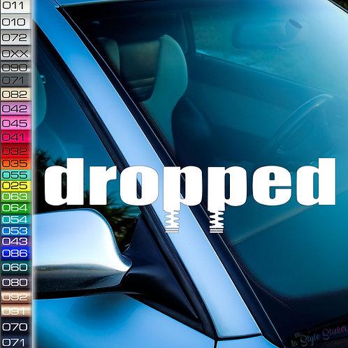 Dropped Dämpfer Frontscheibenaufkleber Tuningsticker Autoaufkleber Uni Farben Sticker Tuningaufkleber Tuningszene