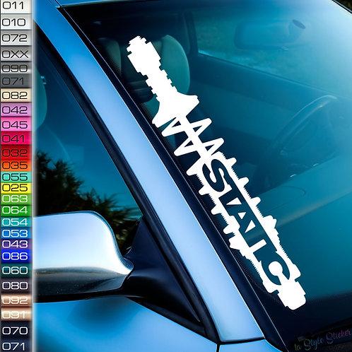 Gewinde Static Frontscheibenaufkleber Tuningsticker Autoaufkleber Uni Farben Sticker Tuningaufkleber Tuningszene