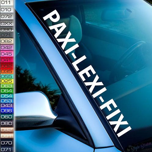 Paxi-Lexi-Fixi Frontscheibenaufkleber Tuningsticker Autoaufkleber Uni Farben Sticker Tuningaufkleber Tuningszene
