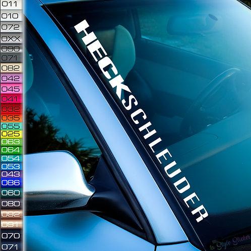 Heckschleuder Frontscheibenaufkleber Tuningsticker Autoaufkleber Uni Farben Sticker Tuningaufkleber Tuningszene