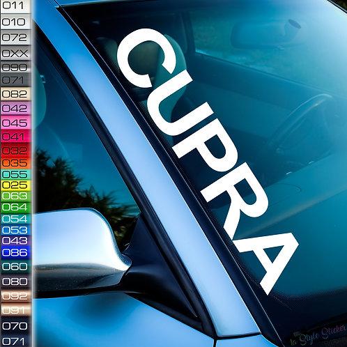 Cupra Frontscheibenaufkleber Tuningsticker Autoaufkleber Uni Farben Sticker Tuningaufkleber Tuningszene