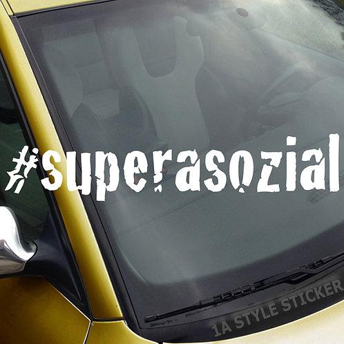 #supersozial Frontscheibenaufkleber Tuningsticker Autoaufkleber Uni Farben Sticker Tuningaufkleber Tuningszene