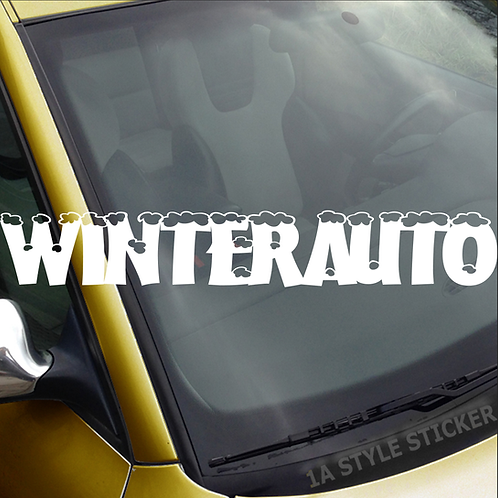 Winterauto Frontscheibenaufkleber Tuningsticker Autoaufkleber Uni Farben Sticker Tuningaufkleber Tuningszene