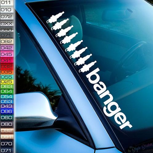 Banger 8 Frontscheibenaufkleber Tuningsticker Autoaufkleber Uni Farben Sticker Tuningaufkleber Tuningszene