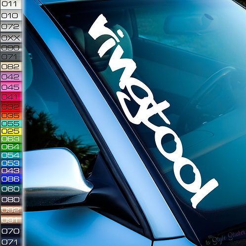 ringtool Frontscheibenaufkleber Tuningsticker Autoaufkleber Uni Farben Sticker Tuningaufkleber Tuningszene