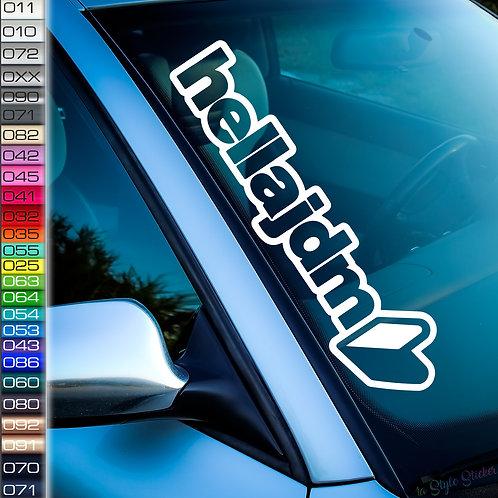 Hella JDM Frontscheibenaufkleber Tuningsticker Autoaufkleber Uni Farben Sticker Tuningaufkleber Tuningszene