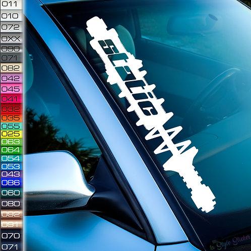 Static Fahrwerk Frontscheibenaufkleber Tuningsticker Autoaufkleber Uni Farben Sticker Tuningaufkleber Tuningszene
