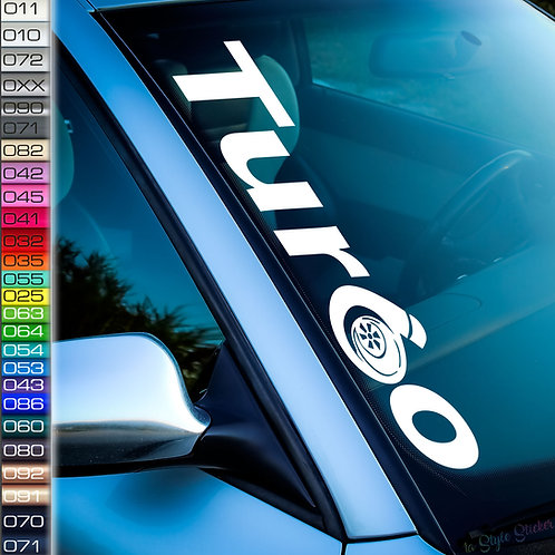 Turbo Frontscheibenaufkleber Tuningsticker Autoaufkleber Uni Farben Sticker Tuningaufkleber Tuningszene