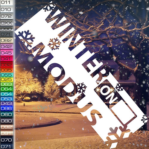 Winter Modus Winterauto Aufkleber Motiv W65
