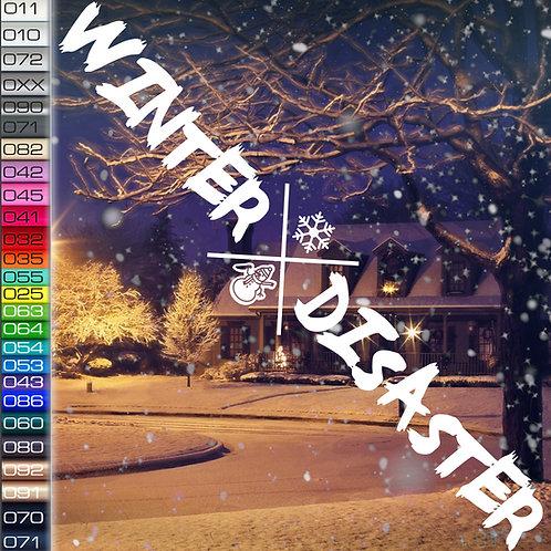 Winter Disaster Autoaufkleber W99